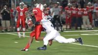 Chase Alibrando (Sr.) sacks the quarterback on Beckman's opening play.
