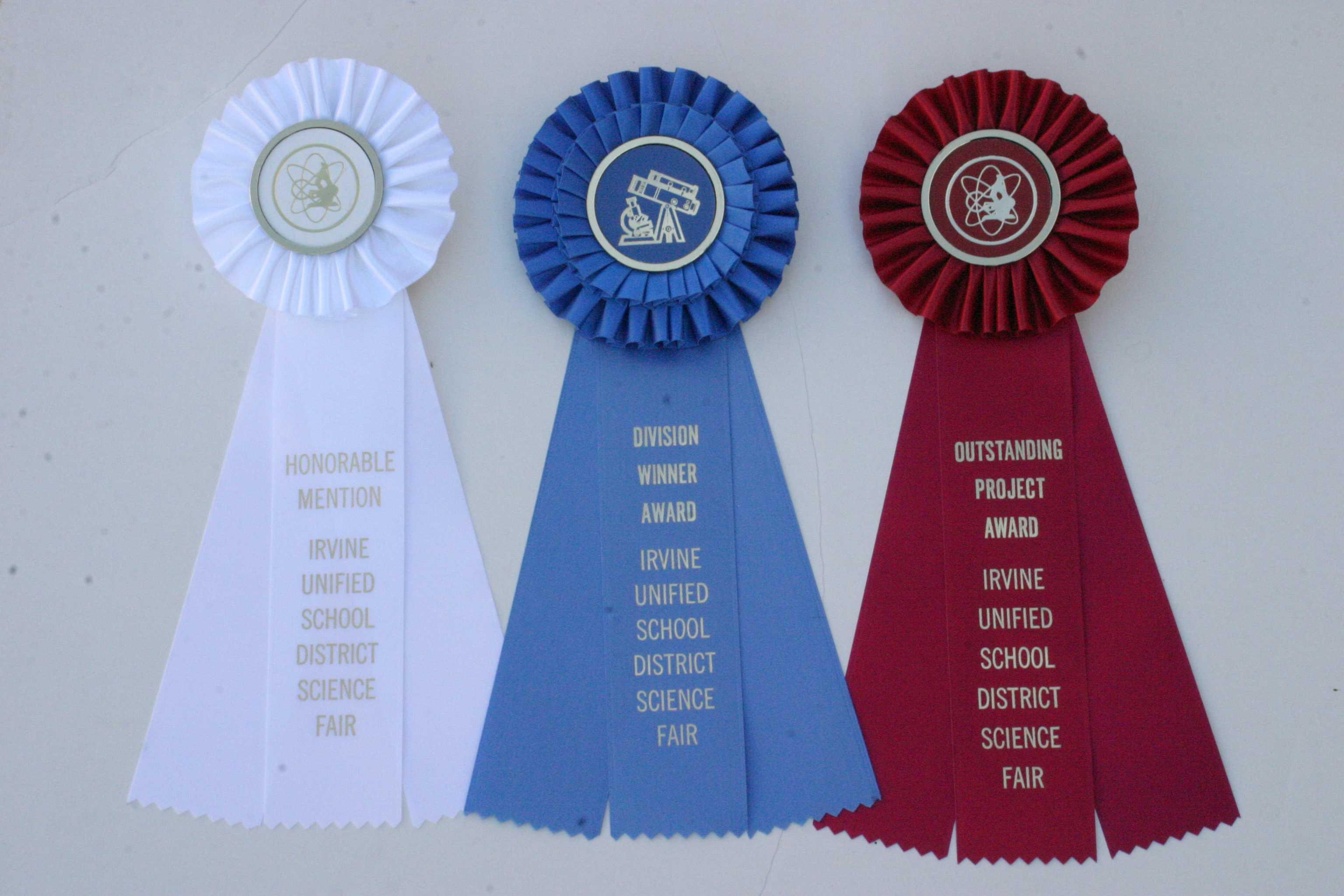 IUSD Science Fair Ribbons  courtesy Amanda Dang (Staff)