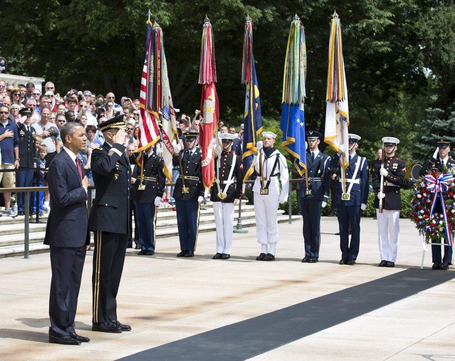 President Obama honors veterans at Arlington National Cemetary Courtesy of Joshua Roberts/Abaca Press/MCT