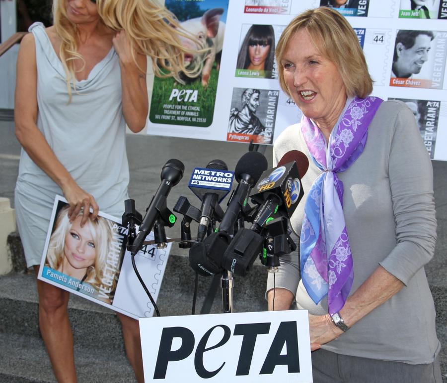 Pictured%3A+Pamela+Anderson%2C+PETA+Founder%2C+Ingrid+Newkirk.+%28Baxter%2FAbacaUSA.Com%2FMCT%29