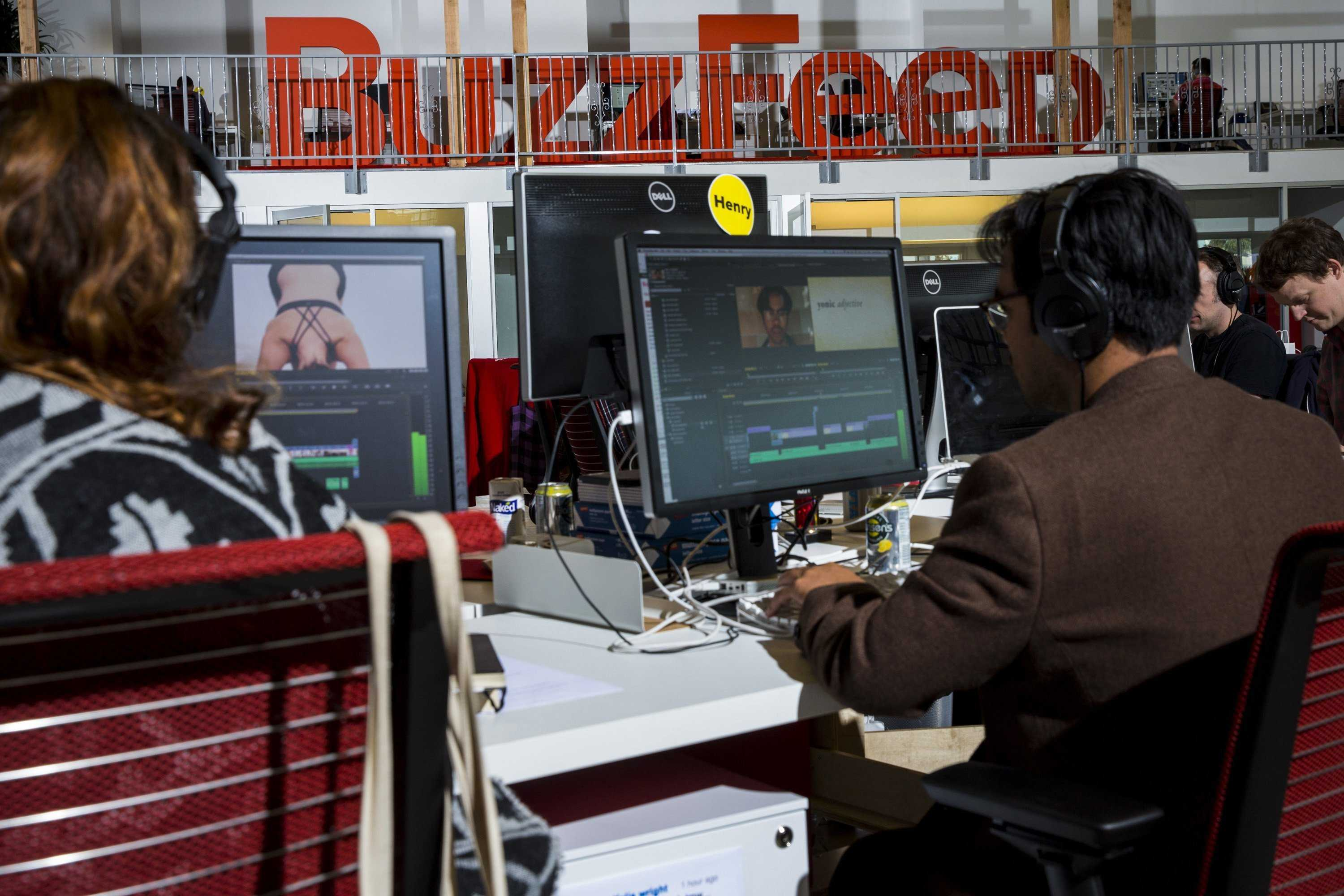 Buzzfeed headquarters in Los Angeles, California. (Jay L. Clendenin/Los Angeles Times/MCT)