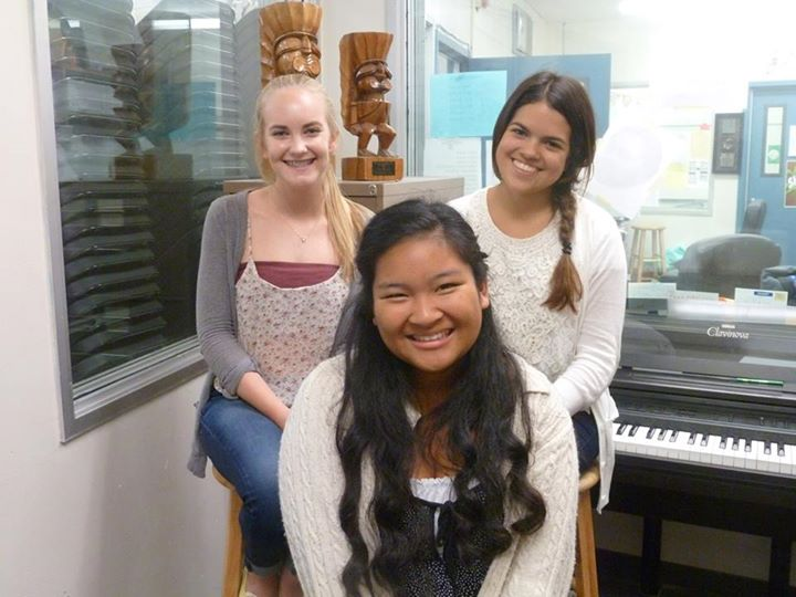 Ellie Williams (So.), Danica Silan (So.) and Catalina Fernandez (So.)