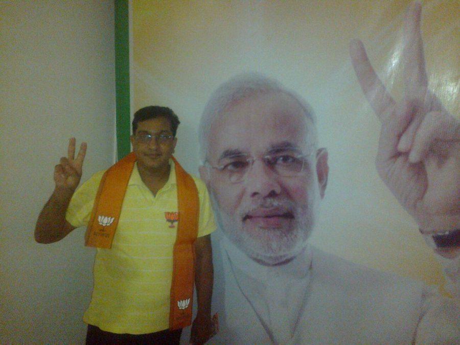 Campaign+publicity+of+Prime+Minister+candidate+Narenda+Modi+in+Varanasi%2C+India%0AMAHIMA+VERMA+%28STAFF%29+