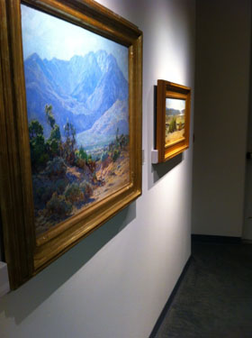 Visitors can view landscape pictures along the museum walls (Elise Rio)
