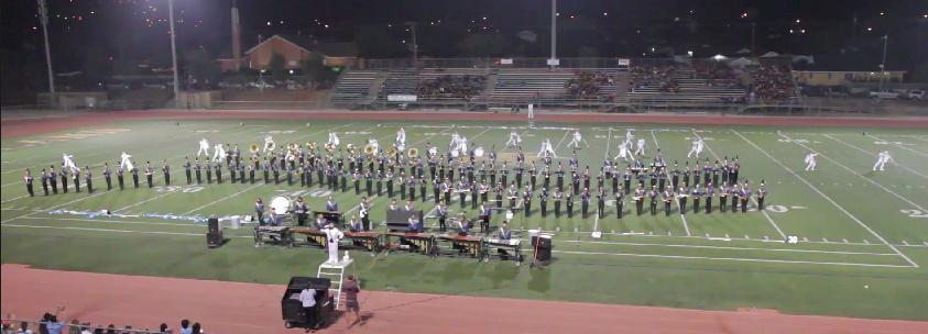 University's Marching Band places first in the first competition of the season