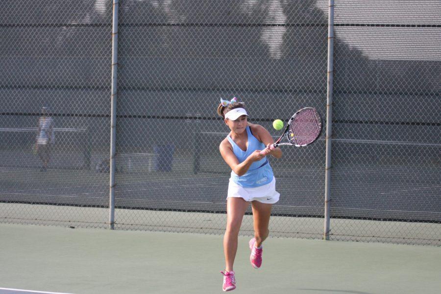 Girls Tennis team's undefeated streak broken by Peninsula High School