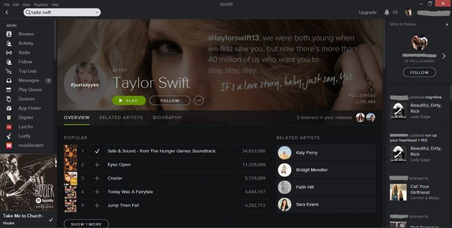 Taylor Swift pulls music from Spotify