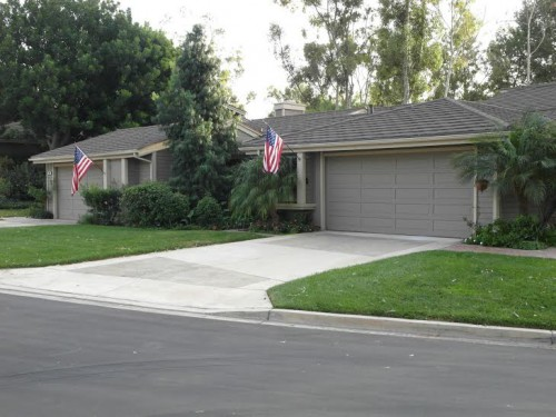 Houses in Irvine typically have similar features if not uniformity like these two (Ken Nguyen).