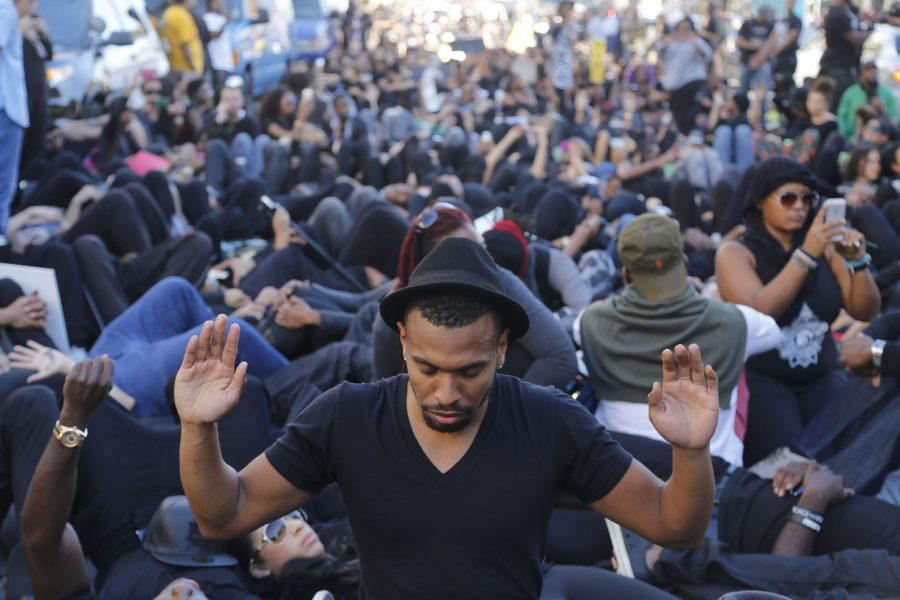 On December 6, a group in LA, calling itself Black Out Hollywood planned a protest in reaction to the police shooting and killing a protestor the night prior (Gary Friedman/Los Angeles Times/TNS).