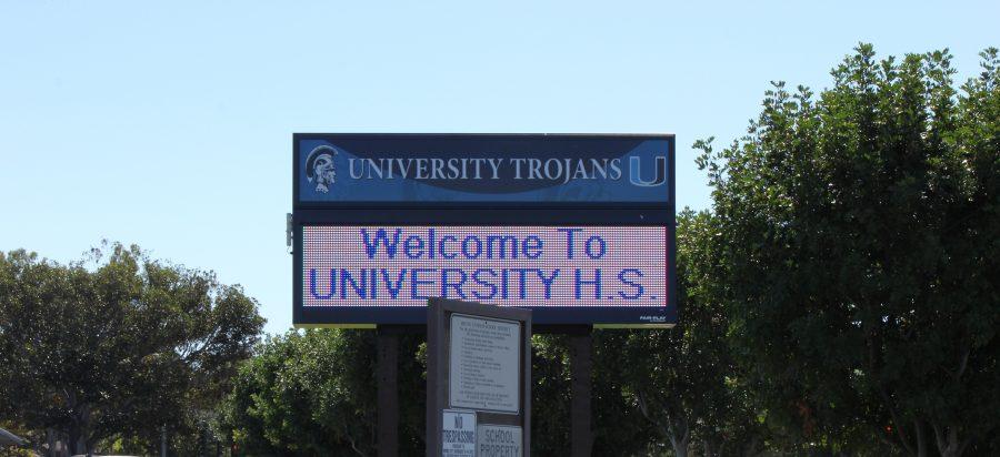 UHS+installs+new+marquee+over+semester+break