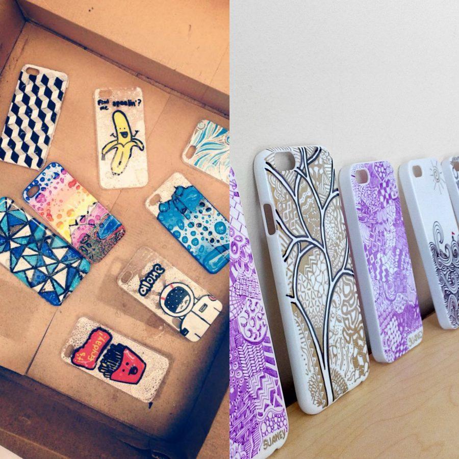 Student designed phone cases