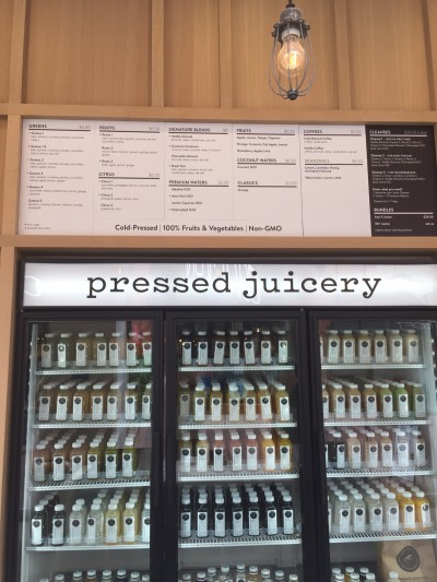 Juice options at the Pressed Juicery location in the Irvine Spectrum (Celine Nguyen)