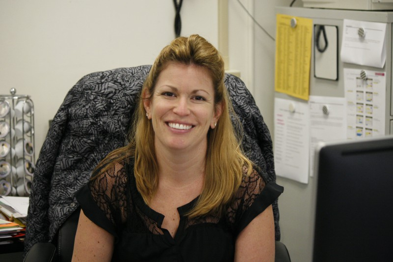 Ms.+Stephens+%28English+Dept.%29+in+her+classroom.