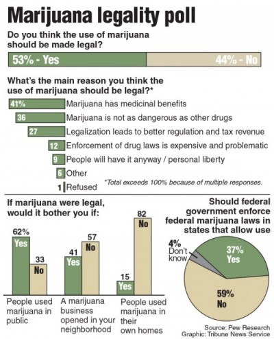 Poll on marijuana legalization. TNS 2015