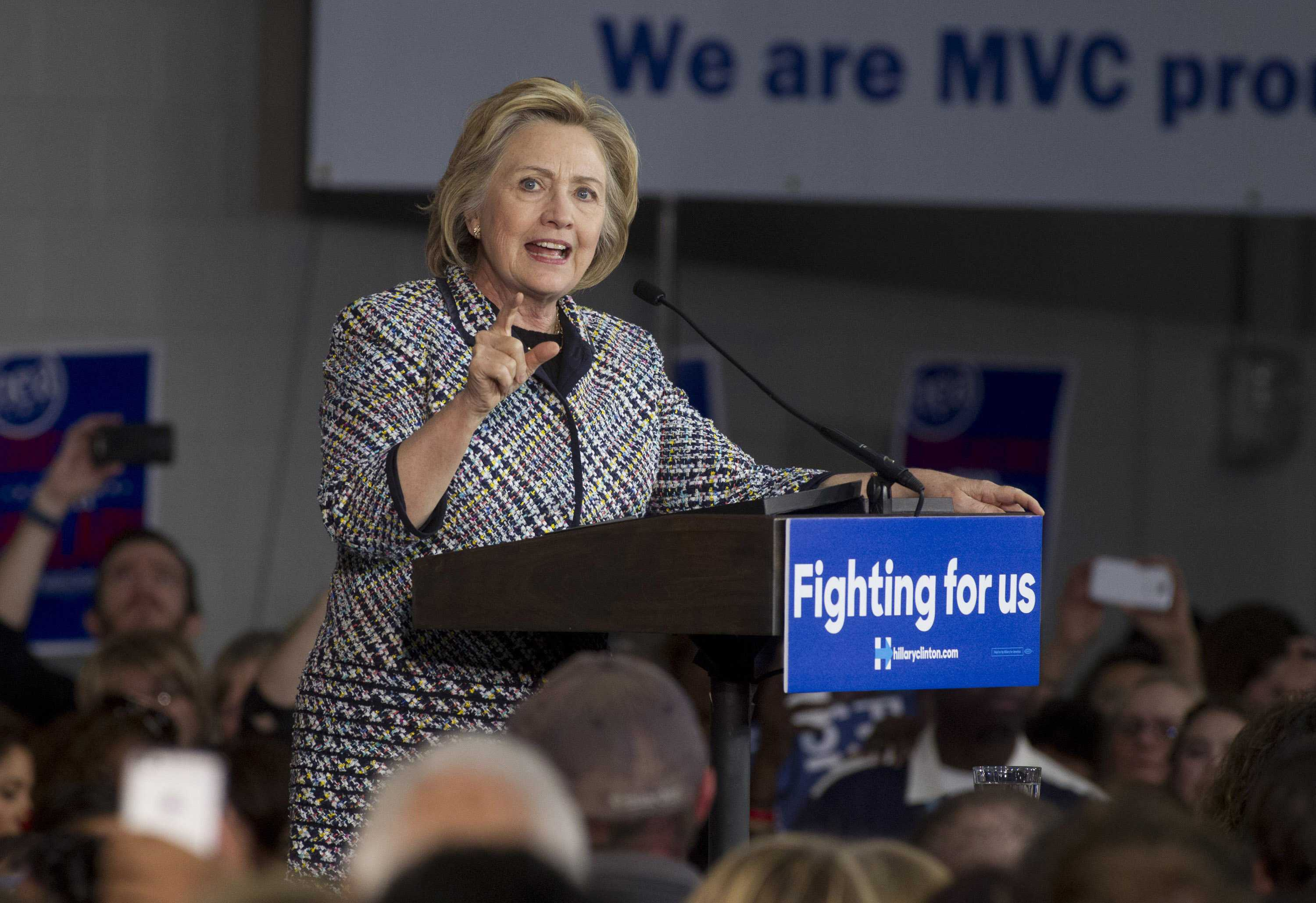 Democratic presidential candidate Hillary Clinton talks to supporters in Dallas at Mountain View College on Tuesday, Nov. 17, 2015. (Joyce Marshall/Fort Worth Star-Telegram/TNS)