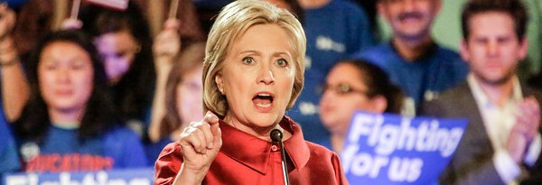 Democratic presidential candidate Hillary Clinton speaks after winning the Nevada caucuses at a rally at Caesars Palace in Las Vegas on Saturday, Feb. 20, 2016. (Irfan Khan/Los Angeles Times/TNS)