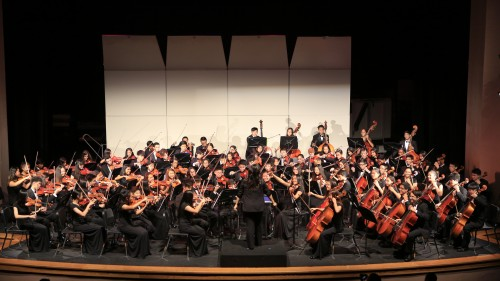 UHS's Symphony Orchestra dedicated many hours to perfecting its ASTA National Orchestra Festival pieces this year, resulting in a national first-place win. (Elysia Ouyang)