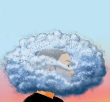 300 dpi Chuck Todd illustration of man's head lost in the Cloud; can be used with stories about whether or not the Cloud is all it is cracked up to be. Bay Area News Group 2012 krtnational national; krtworld world; krt; krtcampus campus; mctillustration; 01027000; ACE; ENT; internet; krtentertainment entertainment; 13022000; computer science; information technology; it; krtscience science; krtscitech; krttechcomputer computer; SCI; TEC; 04000000; 04003002; 04003005; 04003009; FIN; krtbusiness business; krtcomputersci computer science information technology it; krtintlbusiness; krtnamer north america; krttechnology technology; krtusbusiness; network; networking; software; u.s. us united states; wireless technology; backup plan; cc contributed todd bay area news group; storage; the cloud; 2012; krt2012