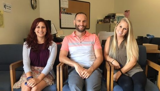 University High School's three new counselors. From left to right: Ms. Addessi, Mr. Schoch, and Ms. Grace. (Aidan Arasasingham)