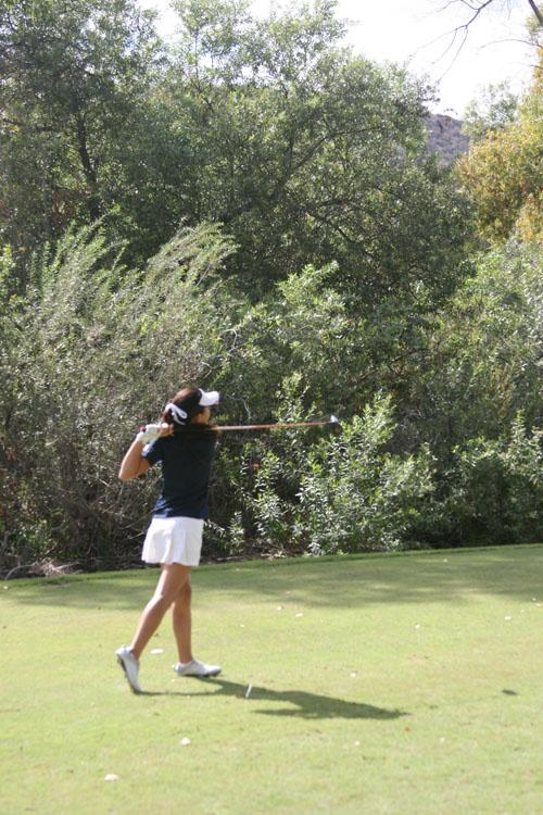 Girls Golf comes out victorious in top two showdown against Beckman