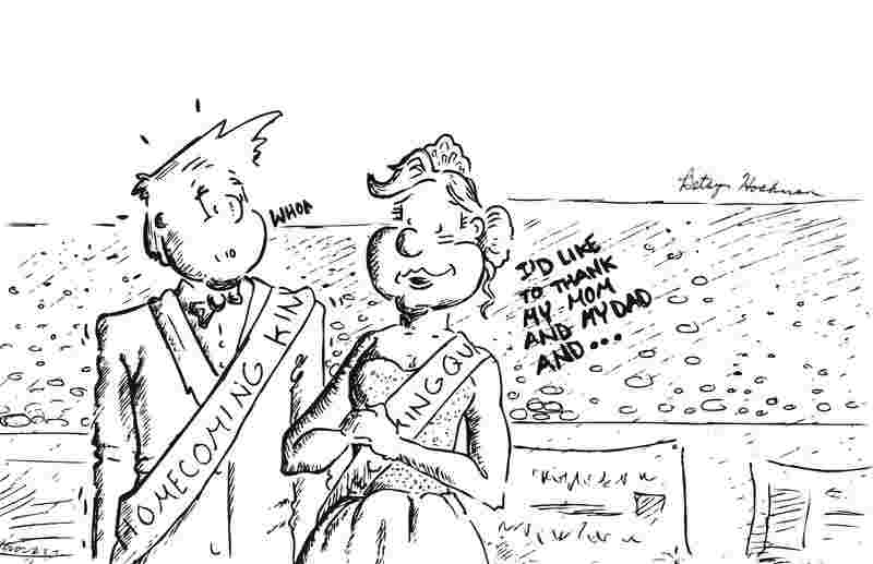 Homecoming kings and queens are often chosen based on popularity rather than character or achievements. Source: Betsy Hochman, The Knight Crier