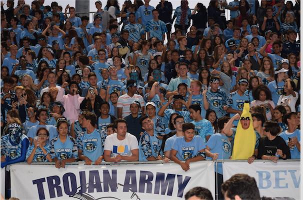 Students+wearing+their+Trojan+Army+apparel+were+able+to+scan+in+to+receive+points+at+the+entrance+to+each+football+game.