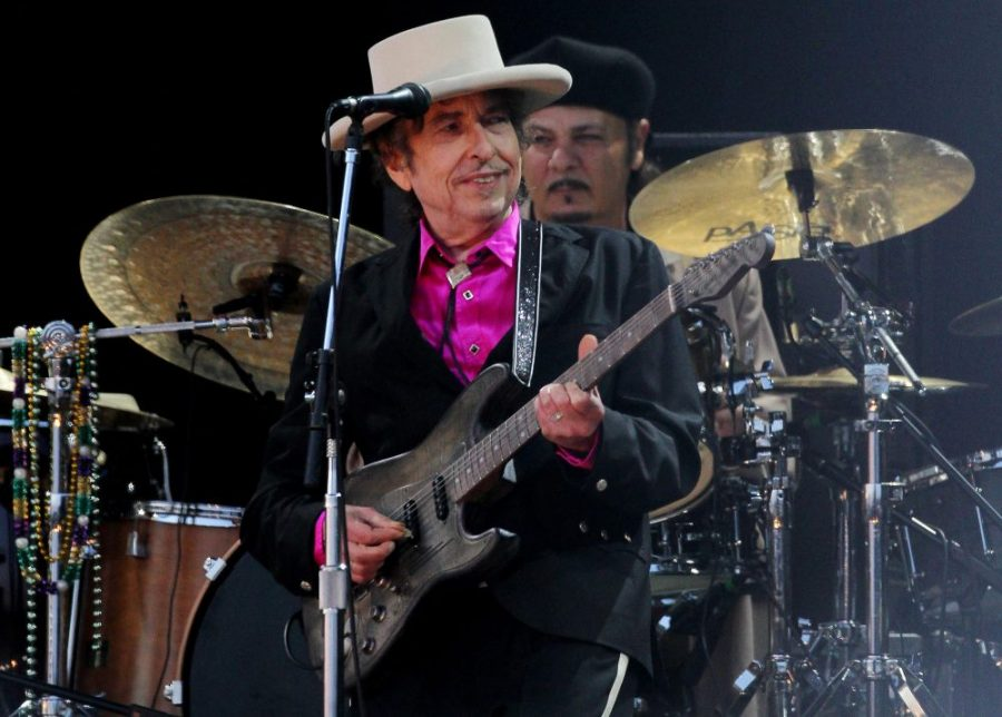 American singer Bob Dylan has been hailed as a great poet in the English-speaking tradition following his surprise win of the Nobel Prize in Literature. (Gareth Fuller/PA Wire/Zuma Press/TNS)
