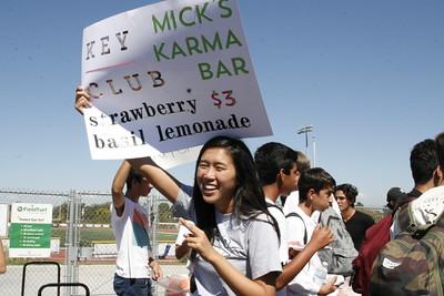 Vanessa Yang (Sr.) promoting Key Clubs lemonade