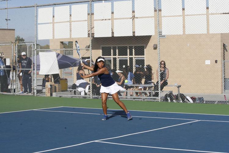 Girls Tennis defeats Martin Luther King High School in second round of CIF