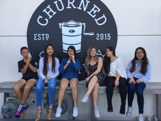 #Foodfam:  Brooke Su (Sr.), Rachell Chon (Sr.), Celine Kim (Sr.),  Ariana Apostol (Sr.), Dominique Battles (Sr.), and Sophia Huo (Sr.) (left to right)