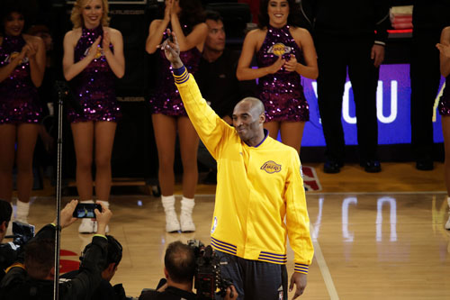 Kobe Bryant plays his last game as a Los Angeles Laker, on Wednesday, April 13, 2016, against the Utah Jazz. (Robert Gauthier/Los Angeles Times/TNS)