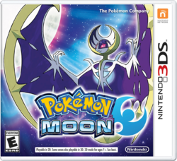 The game cover for Pokémon Moon features the legendary Pokémon Lunala. (Source: The Pokémon Company/Nintendo)