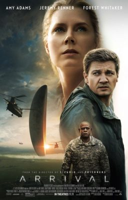 Amy Adams, Jeremy Runner, and Forest Whitaker on the official Arrival movie poster (Google).