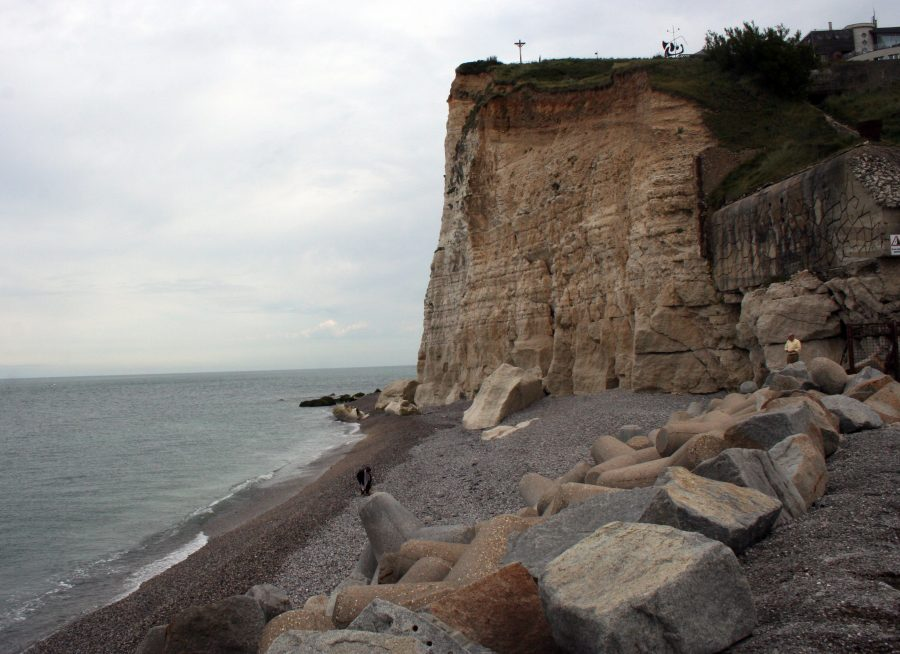 The town of Fecamp in Upper Normandy, home to Palais Benedictine, is a tapestry of dramatic landscapes and seaside cliffs. (Mary Ann Anderson/MCT)