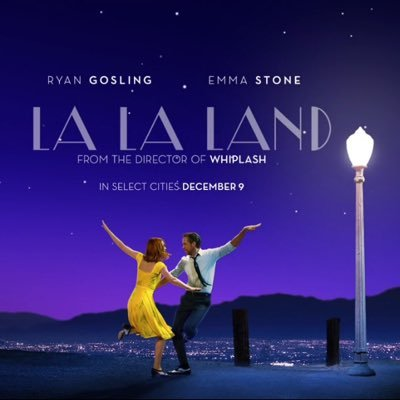 La La Land movie poster (Google).