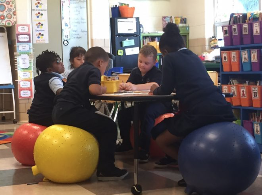 """Lesley Righetti, a first grade teacher at Jefferson International Academy, made the switch in her classroom and claims that she has seen kids with """"greater engagement, more excitement, and a higher desire to learn."""""""