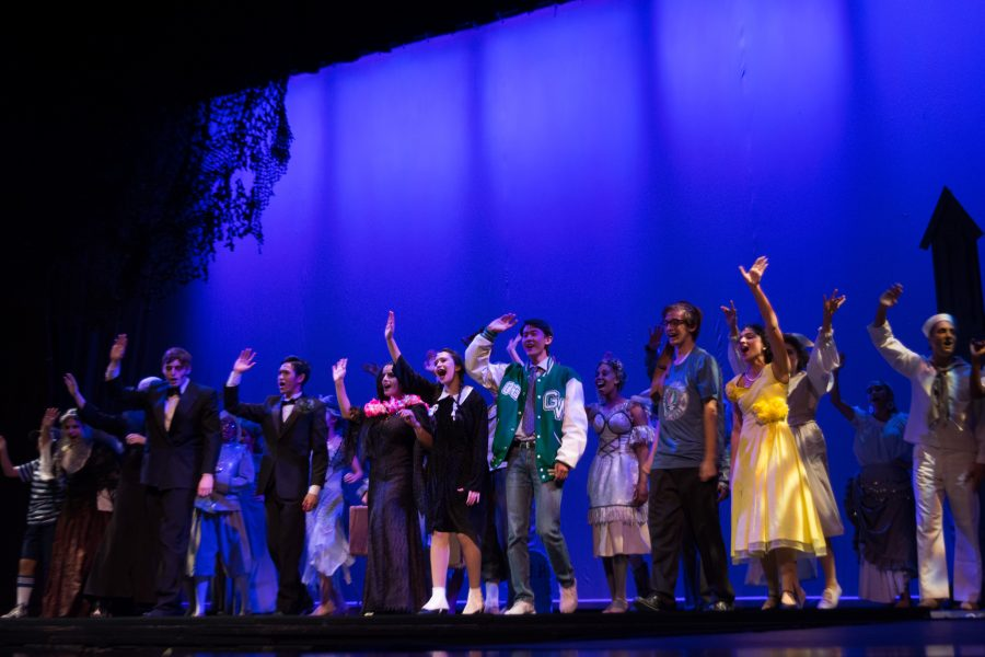 The cast of The Addams Family wave their goodbyes after a successful opening night (Jenny Li).
