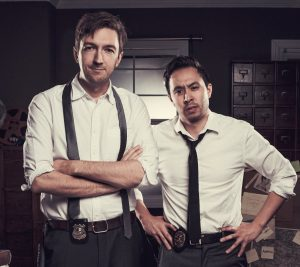 Shane Madej and Ryan Bergara, affectionately known as the Ghoul Boys, pose for their True Crime show (Ryan Bergara on Twitter)