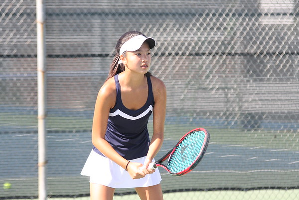 Sophomore Emily Markus is a rising star, winning all county last year. (K. Maeda)