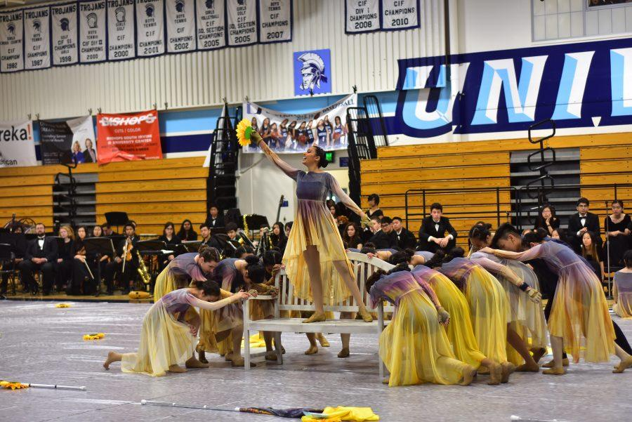 UHS Color Guard performs