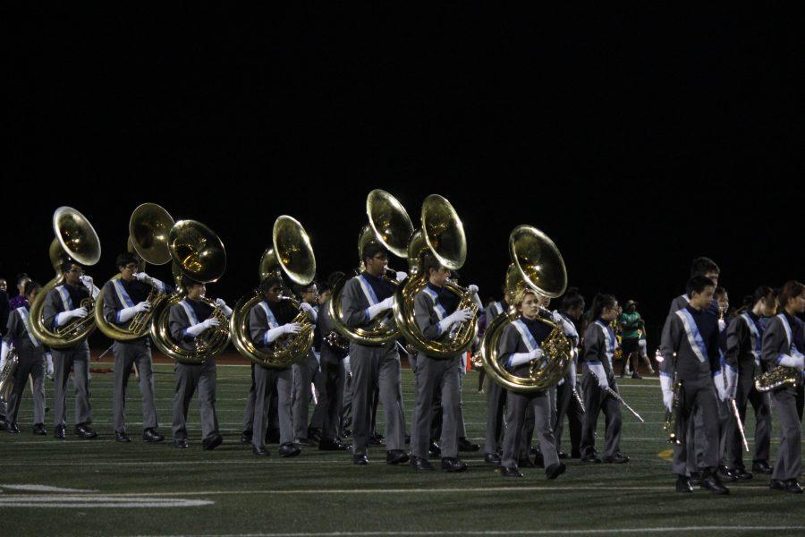 Marching+Trojan+Regiment+performs+at+a+football+game+on+September+13+%28Kortney+Maeda%29.