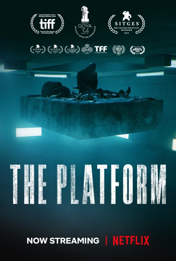The+Platform%2C+released+on+Netflix+in+2019%2C+presents+a+hauntingly+relevant+view+on+society+during+the+coronavirus+outbreak+%28Netflix%29.