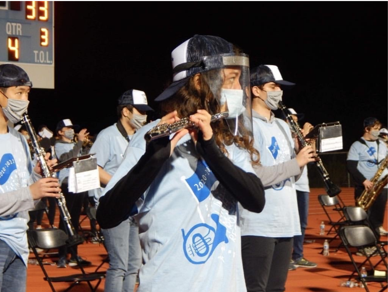 Marching Band Returns to Socially Distanced Practices and Performances