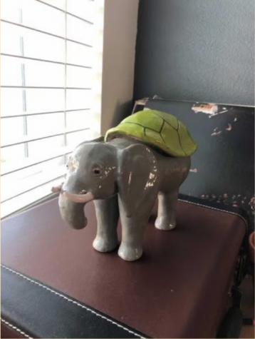 Robinsons ceramic elephant (Claudia Robinson)