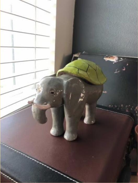 Robinson's ceramic elephant (Claudia Robinson)