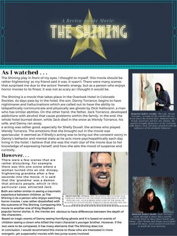 Beginning Journalism Project - A Review on the Movie - The Shining