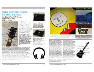 Beginning Journalism Project - Song Review: Seven by Men I Trust