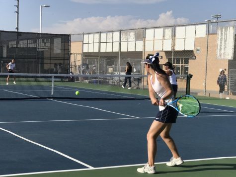 Girls Tennis Wins First League Game Against Northwood