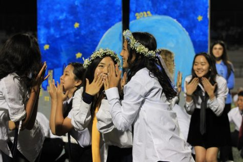 This image displays senior students during their student council dance.